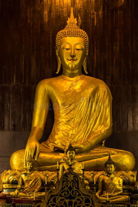 Buddha Statue In Pan Tao Temple Located In Chiang Mai
