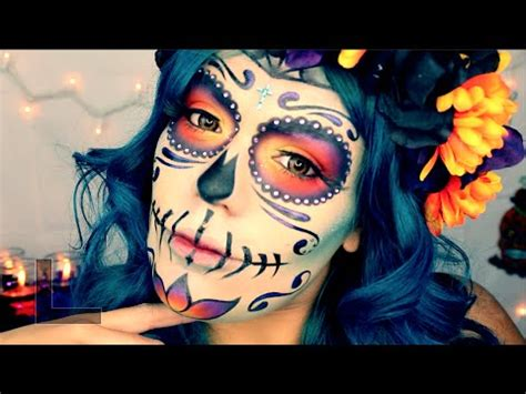 """""""Day Of The Dead"""" Mexican Sugar Skull Makeup Tutorial"""