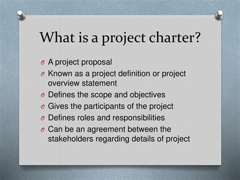 PPT - Project Charter PowerPoint Presentation, free