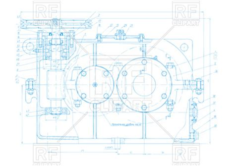Engineering drawing background Vector Image of Backgrounds