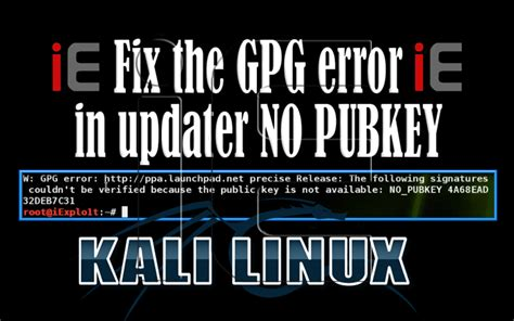 """How To: Fix the GPG error in updater """"NO_PUBKEY"""" ~ iExplo1t"""