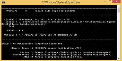 Simple batch script to deploy bginfo, want to make fool