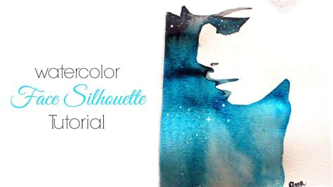 Easy Watercolor Face Silhouette Tutorial - YouTube
