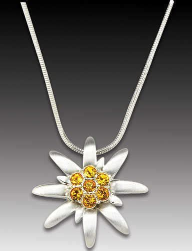 Edelweiss Necklace with Heidi Pendant - Esther's European
