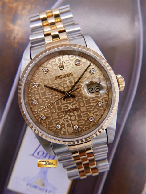 [SOLD] ROLEX OYSTER DATEJUST DIAMOND COMPUTER DIAL HALF