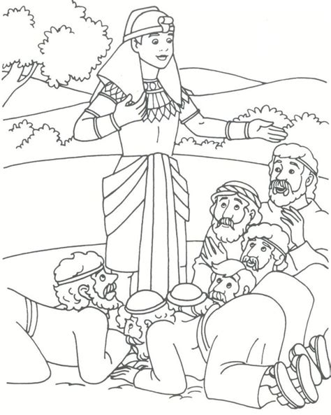joseph and his brothers coloring page | Joseph forgives