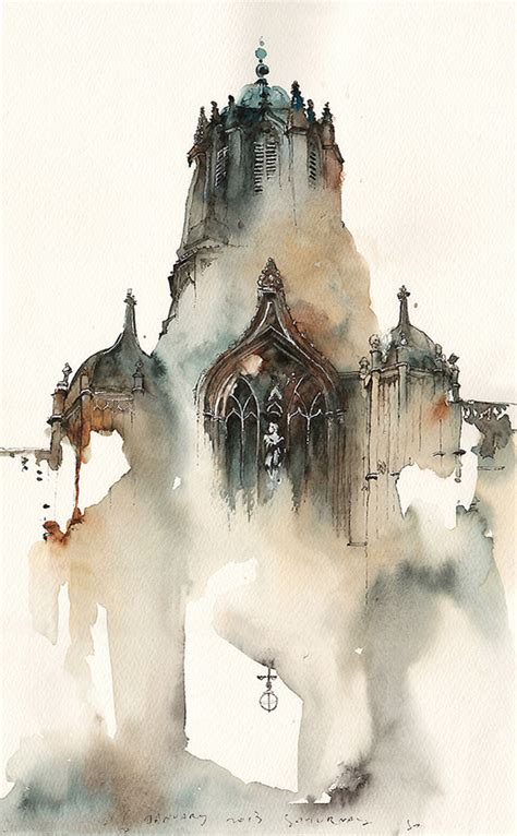 Dreamy Architectural Watercolors by Sunga Park | Colossal