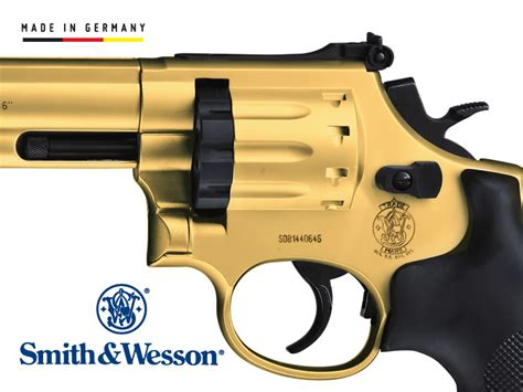 CO2 Revolver Smith and Wesson Modell 686, gold finish, 6