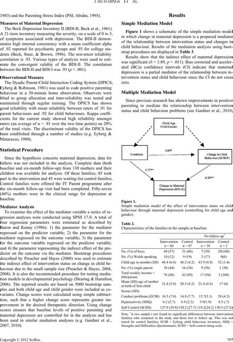 Improvements in Maternal Depression as a Mediator of Child